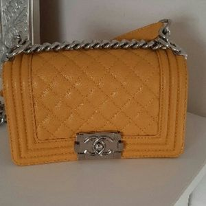 Chanel Leather Lambskin Boy Bag
